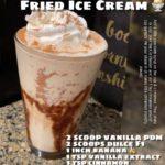 Fried Ice cream Shake